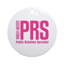 Public Relations Specialist Ornament (Round)
