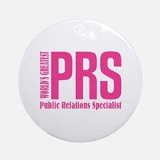 Public Relations Specialist Ornament (Round)