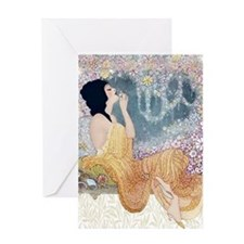 Art Deco Vanity Lady Greeting Cards