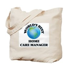 World's Best Home Care Manager Tote Bag