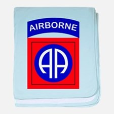 82nd Airborne Division baby blanket