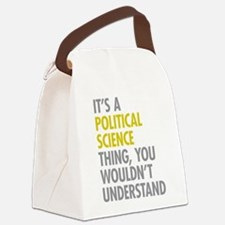Political Science Thing Canvas Lunch Bag