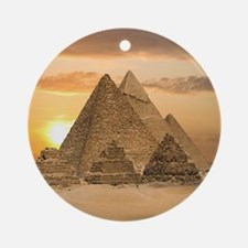 Giza Pyramids Ornament (Round)