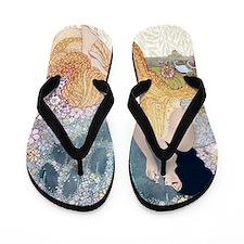 Art Deco Vanity Lady Flip Flops