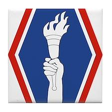 442 Infantry Division.psd.png Tile Coaster