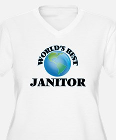 World's Best Janitor Plus Size T-Shirt