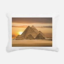 Giza Pyramids Rectangular Canvas Pillow