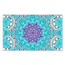 Vintage turquoise bohemian pattern Decal