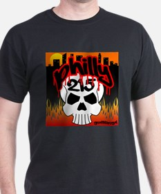 """PHILLY 215 GRAFFITI SKULL"" T-Shirt"