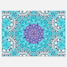 Vintage turquoise bohemian pattern Invitations