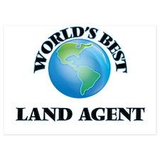 World's Best Land Agent Invitations