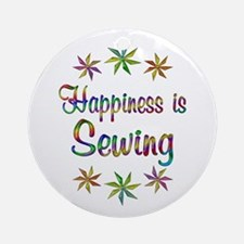 Happiness is Sewing Ornament (Round)