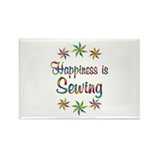 Happiness is Sewing Rectangle Magnet
