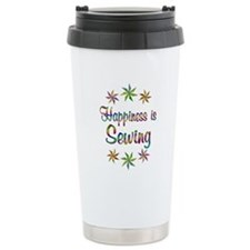 Happiness is Sewing Stainless Steel Travel Mug