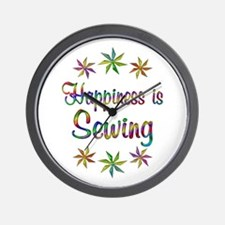 Happiness is Sewing Wall Clock
