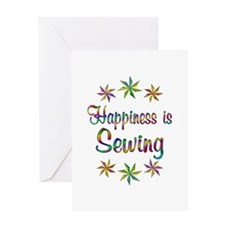 Happiness is Sewing Greeting Card