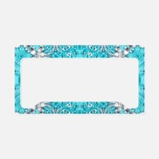 Vintage turquoise bohemian pa License Plate Holder