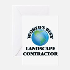 World's Best Landscape Contractor Greeting Cards