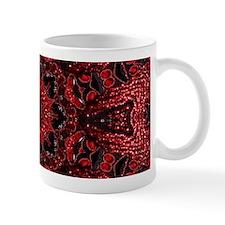 Vintage red floral bohemian pattern Mugs