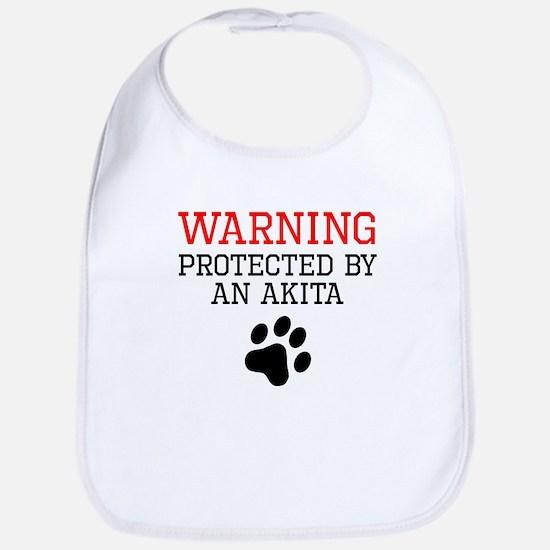 Protected By An Akita Bib