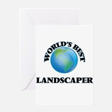 World's Best Landscaper Greeting Cards