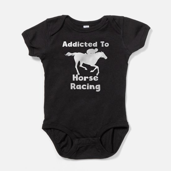 Addicted To Horse Racing Baby Bodysuit