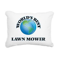 World's Best Lawn Mower Rectangular Canvas Pillow