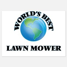 World's Best Lawn Mower Invitations