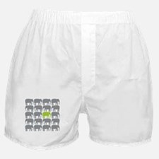 One Green Elephant in the Herd Boxer Shorts