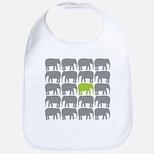 One Green Elephant in the Herd Bib