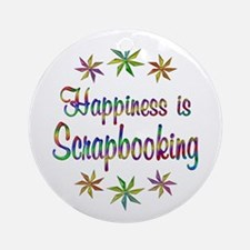 Happiness is Scrapbooking Ornament (Round)