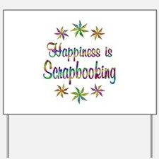 Happiness is Scrapbooking Yard Sign