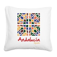 Andalusian Tiles 1 Square Canvas Pillow