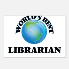 World's Best Librarian Postcards (Package of 8)