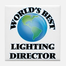 World's Best Lighting Director Tile Coaster