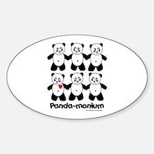 Panda-monium Oval Decal