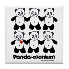 Panda-monium Tile Coaster