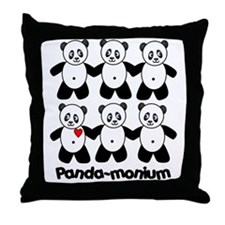 Panda-monium Throw Pillow