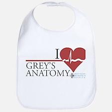 I Heart Grey's Anatomy Bib