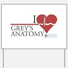 I Heart Grey's Anatomy Yard Sign