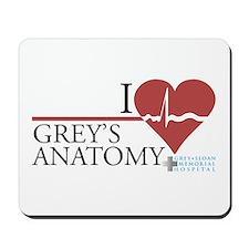 I Heart Grey's Anatomy Mousepad