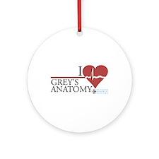 I Heart Grey's Anatomy Round Ornament