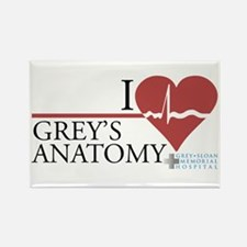 I Heart Grey's Anatomy Rectangle Magnet