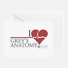 I Heart Grey's Anatomy Greeting Card