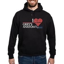 I Heart Grey's Anatomy Dark Hoodie