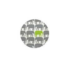 One Green Elephant in the Herd Mini Button (10 pac