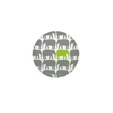 One Green Elephant in the Herd Mini Button