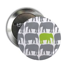 """One Green Elephant in the Herd 2.25"""" Button (10 pa"""