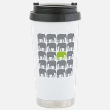 One Green Elephant in the Herd Travel Mug