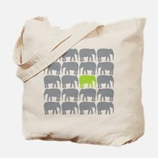 One Green Elephant in the Herd Tote Bag